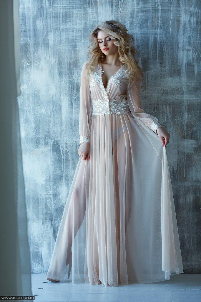 Будуарные платья пеньюары